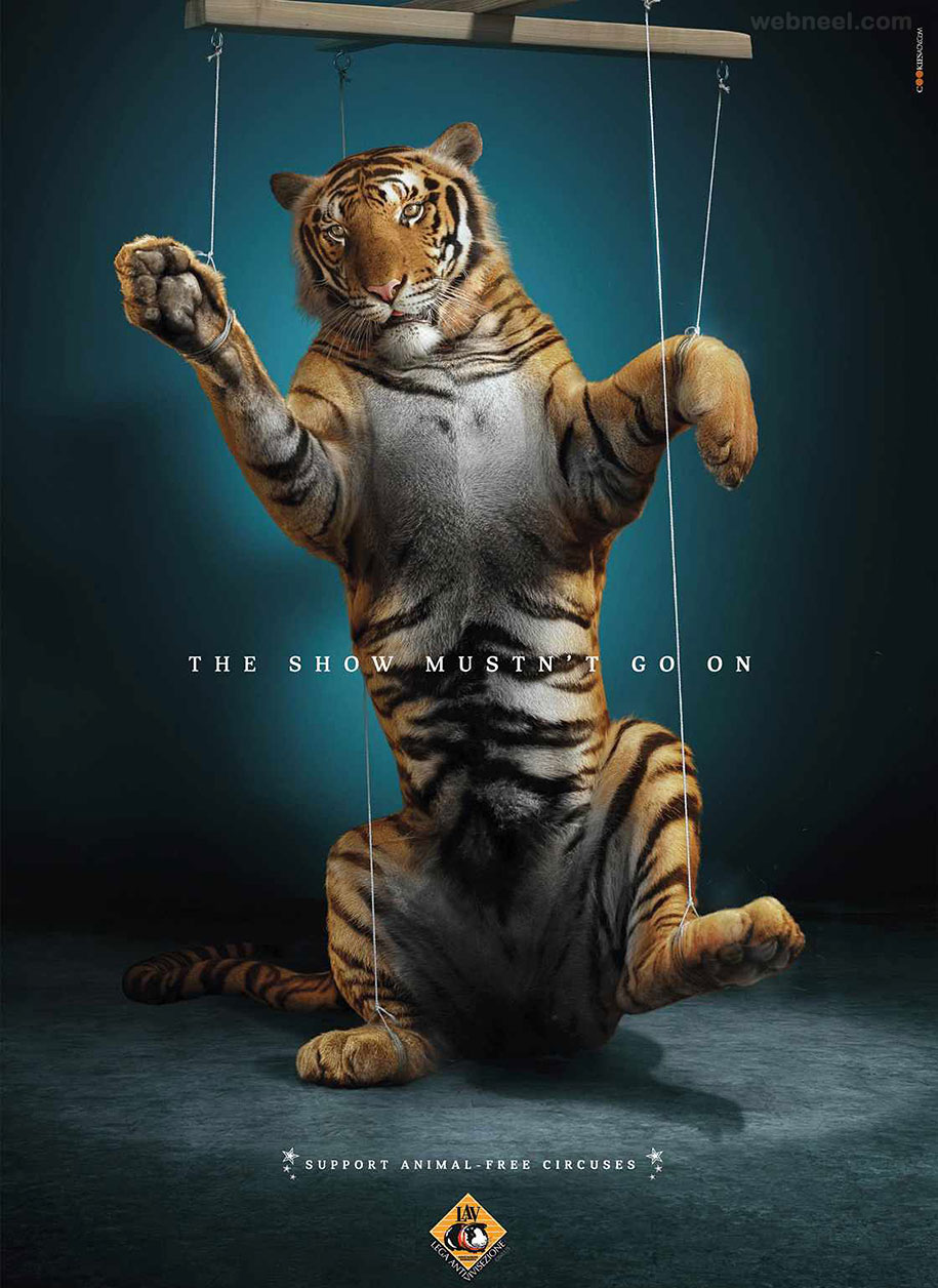 animal advertisment print ads