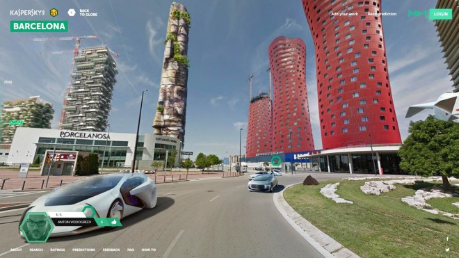 barcelona futuristic city design ideas by kaspersky lab