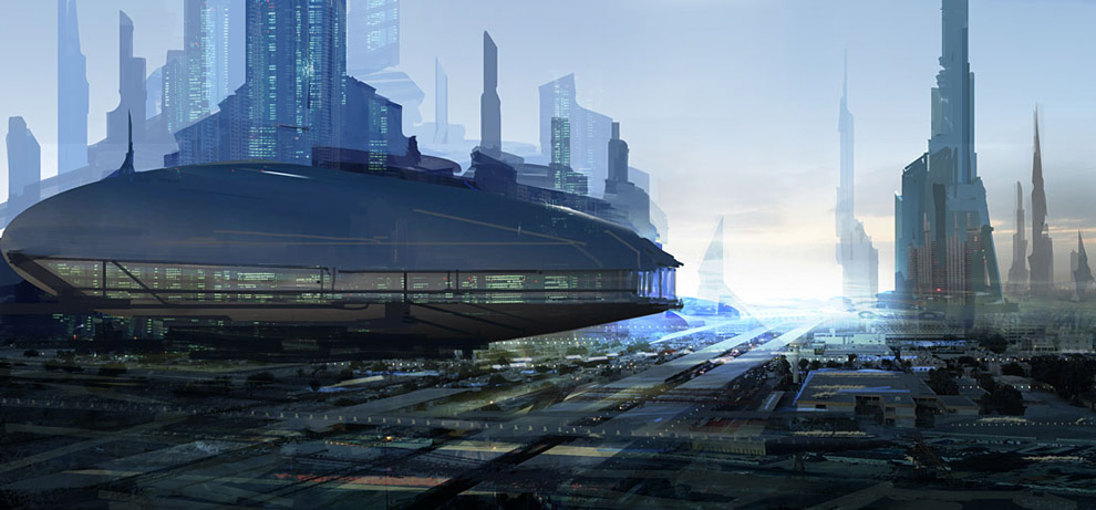 building futuristic city design ideas