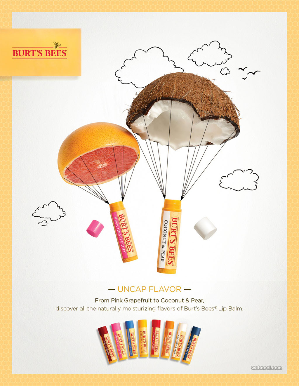 lip balm advertising ideas design