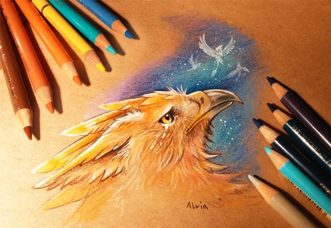 night of memories color pencil drawing by alvia alcedo