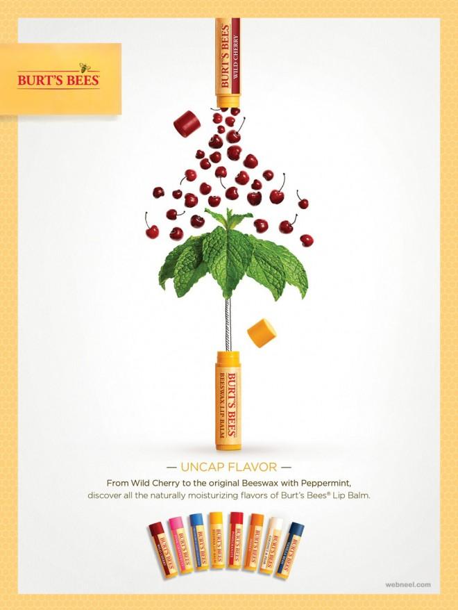 lip palm advertising ideas design