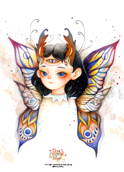 butterfly drawing by dou leung