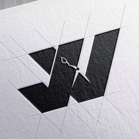 initials jw branding logo design by goran jugovic