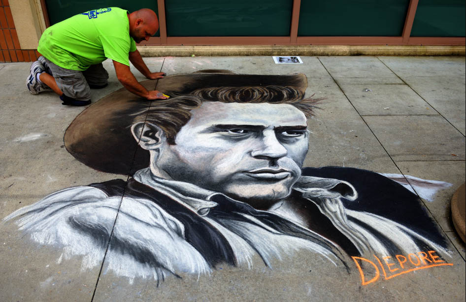 portrait chalk art