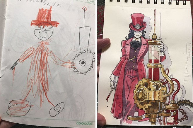 steampunk doctor anime drawing by thomas romain