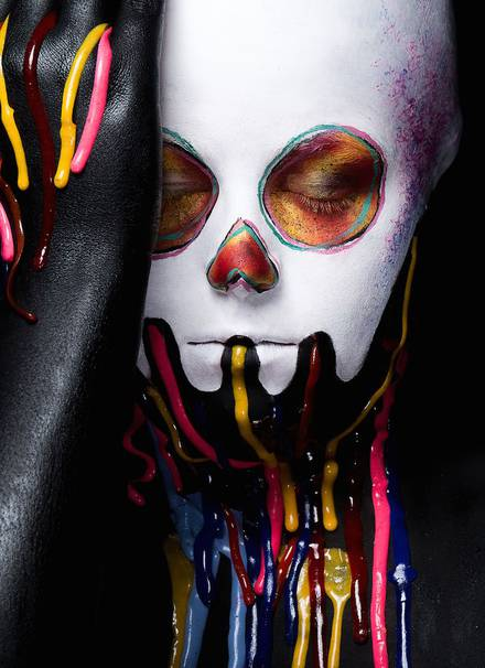 takashis art as face paintings
