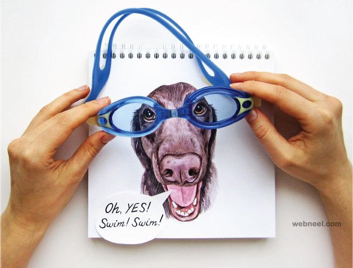 interactive illustration dog drawing idea