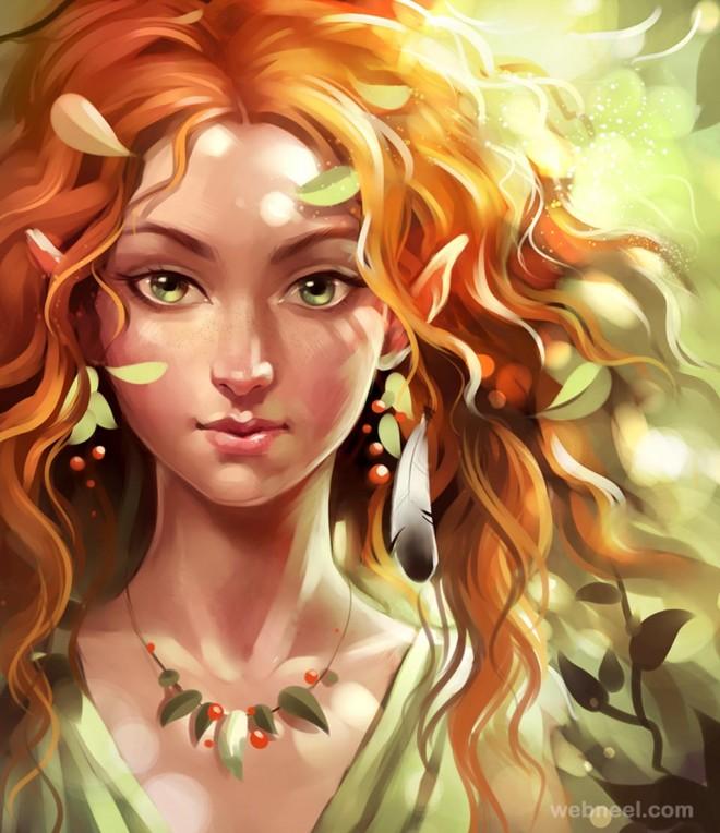 fantasy digital painting by sharandula