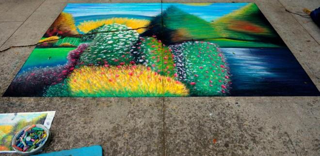 landscape chalk art festival