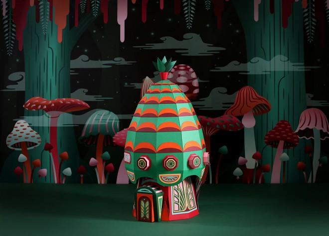 vibrant paper sculpture idea by zim zou