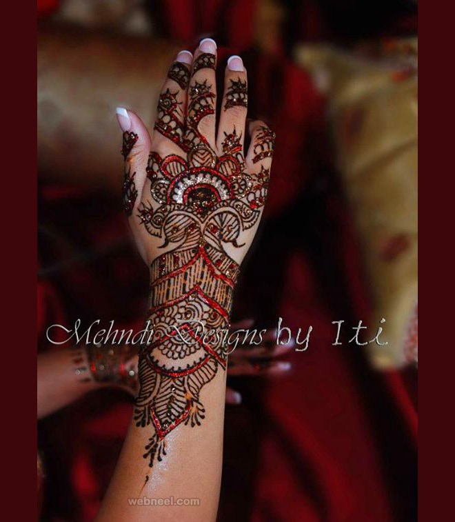 color bridal mehndi design