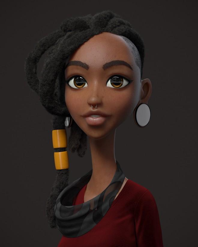 girl dancer 3d design by guzz soares