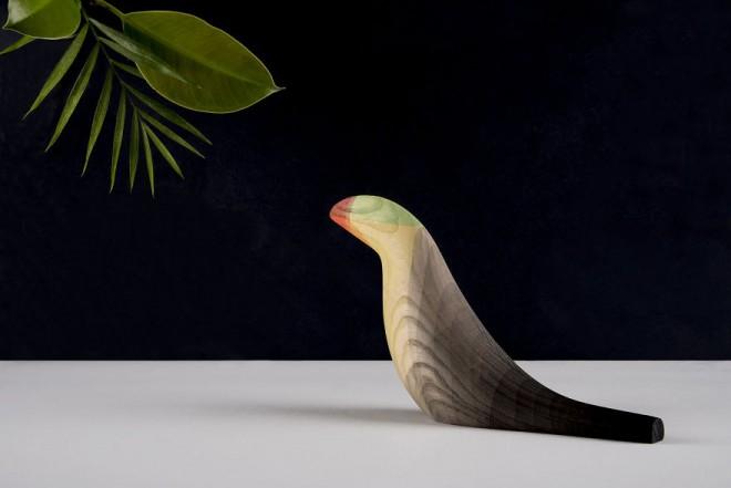 wood sculpture bird by moises hernandez