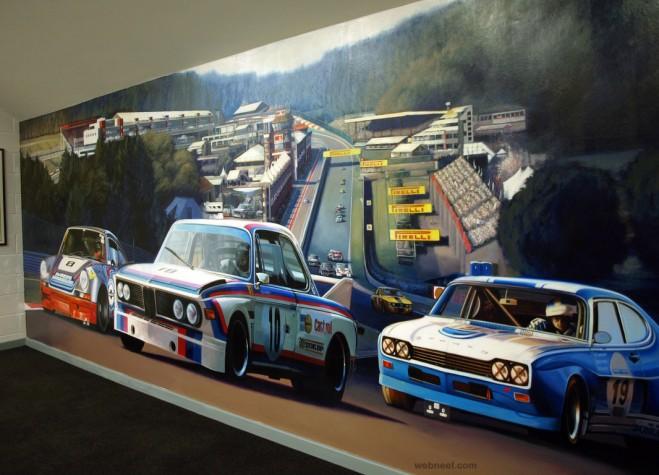 racing painting by ben jeffery