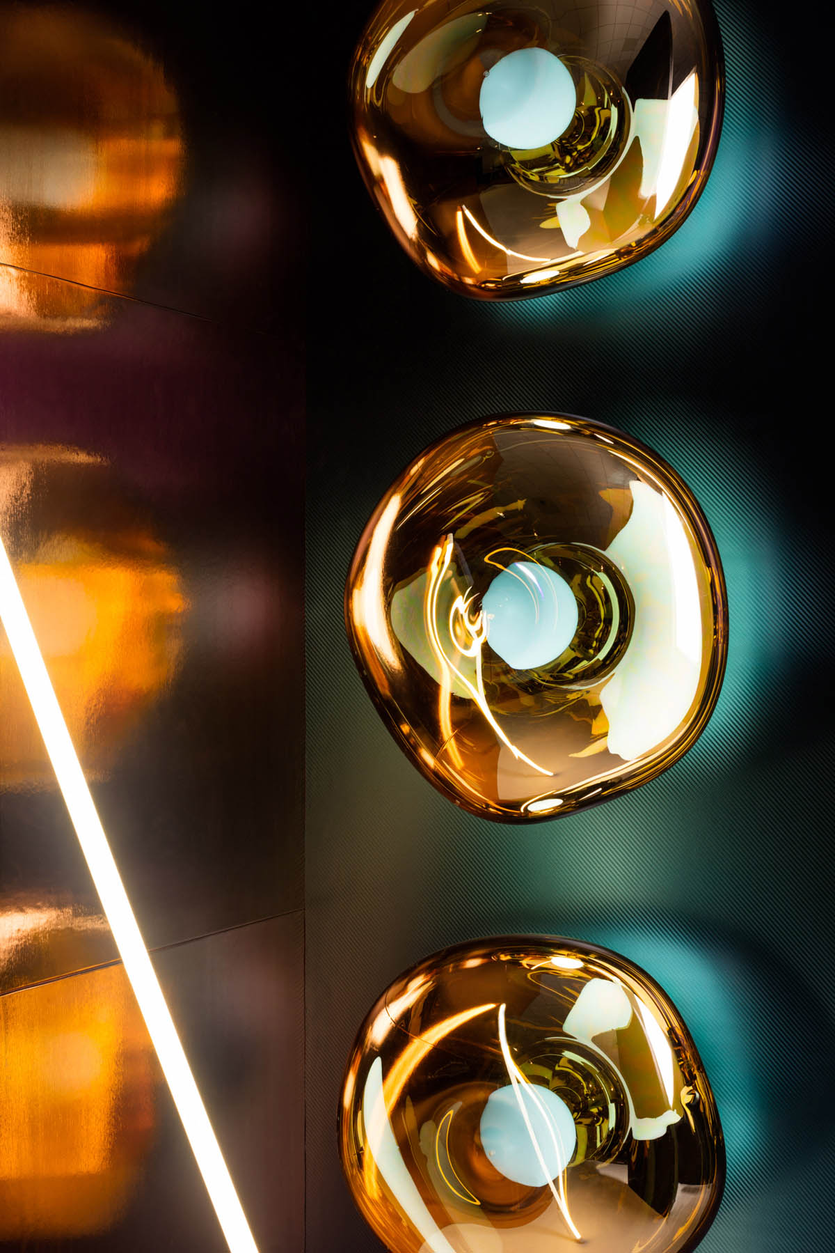 cut tube lighting design by tom dixon