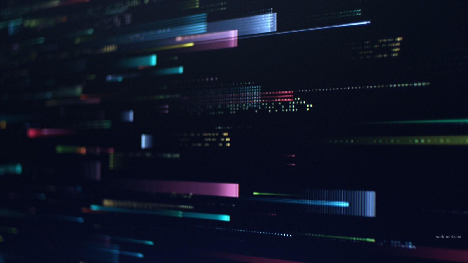 intel advertising 3d motion graphics