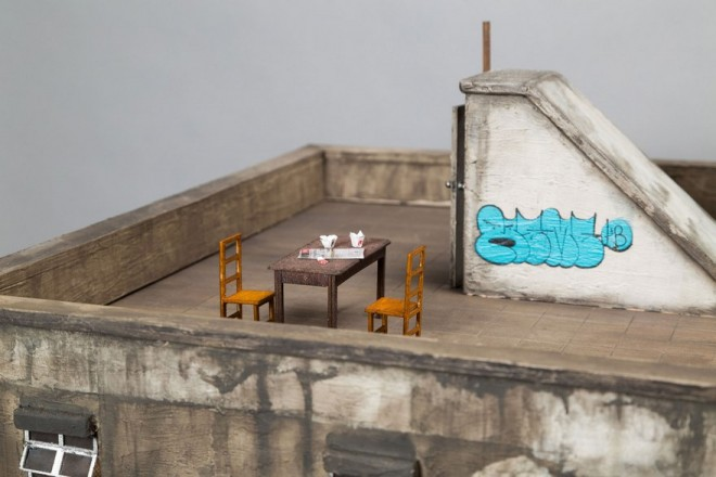 miniature architecture sculptures by joshua smith