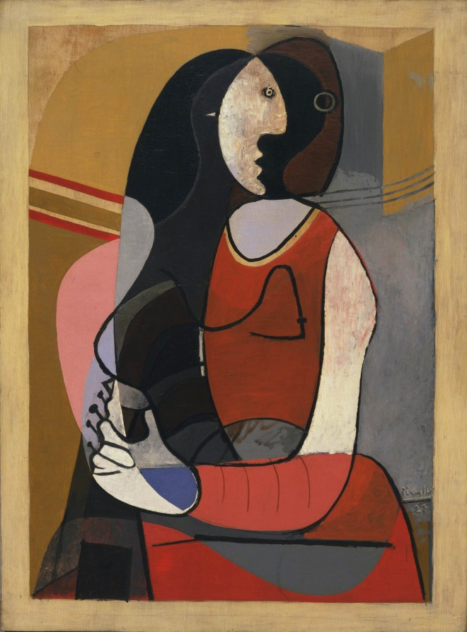 seated woman painting by pablo picasso