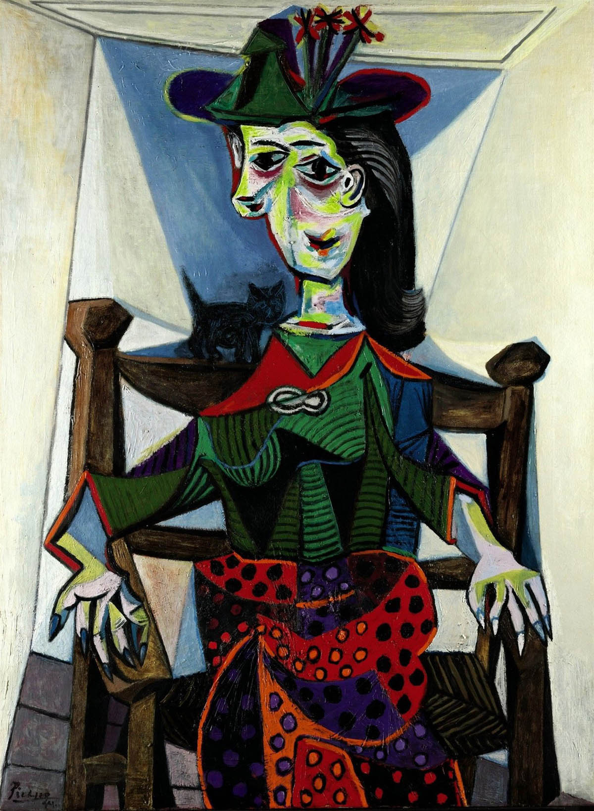 dora maar au chat famous painting by pablo picasso