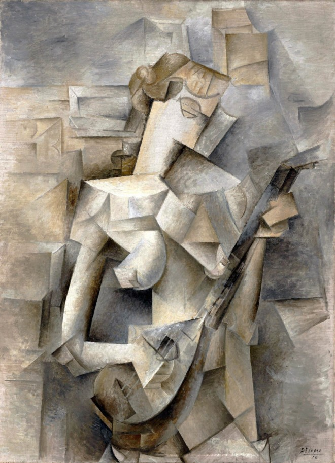 girl with mandolin painting by pablo picasso