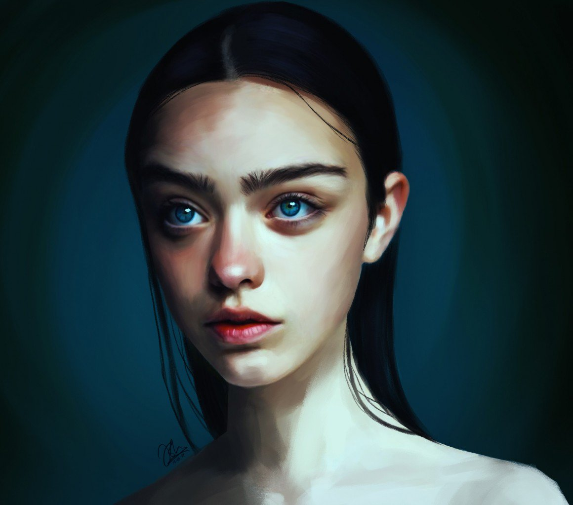 digital illustration norwegian talent portraits by irum shariff hafeez