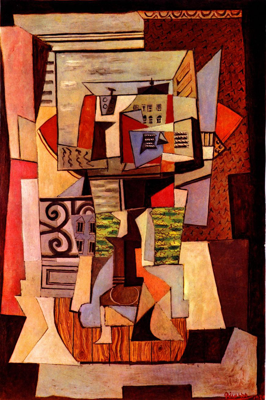 window street oil painting by pablo picasso