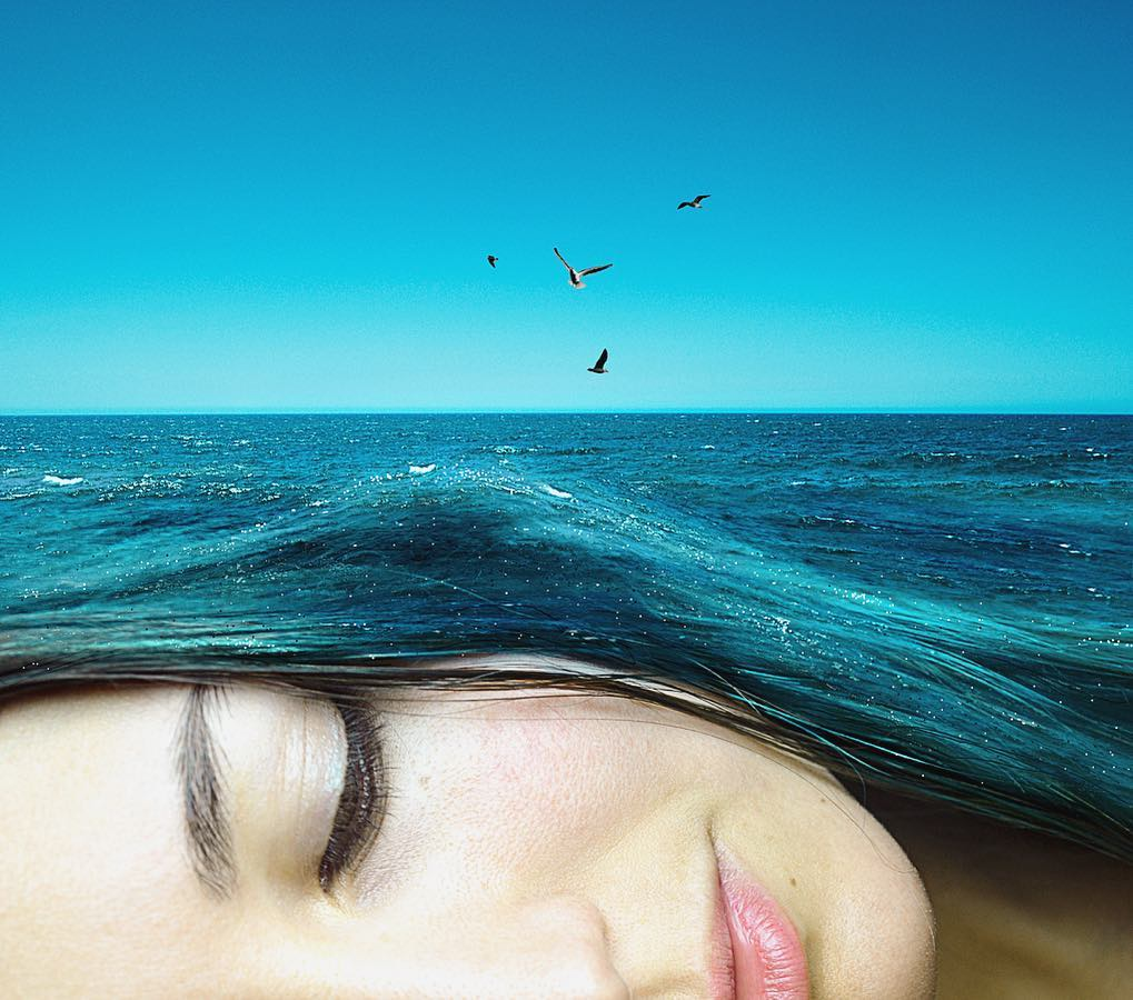 sea woman photo manipulation by monica carvalho