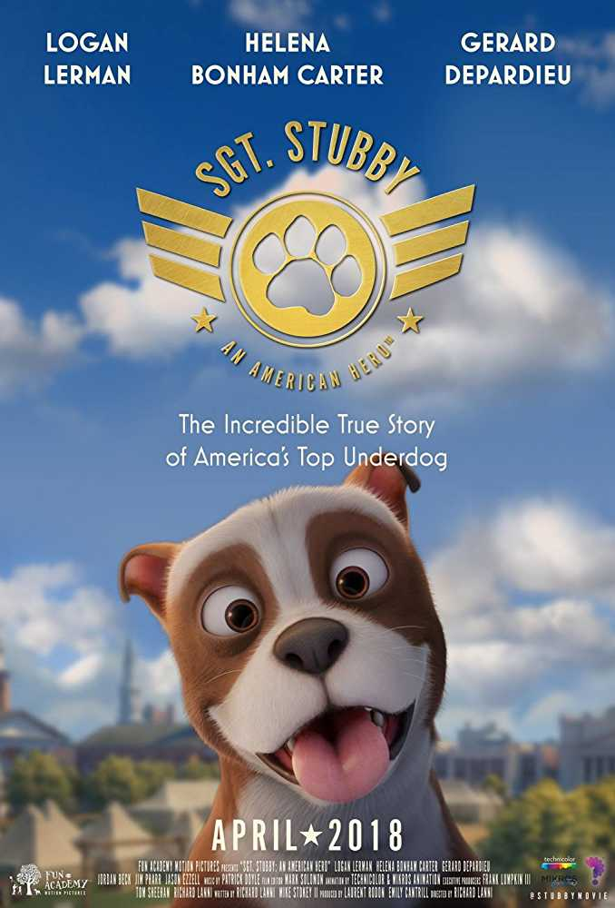 poster sgt stubby animation movies 2018
