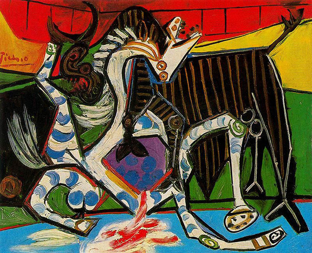 bullfight painting by pablo picasso