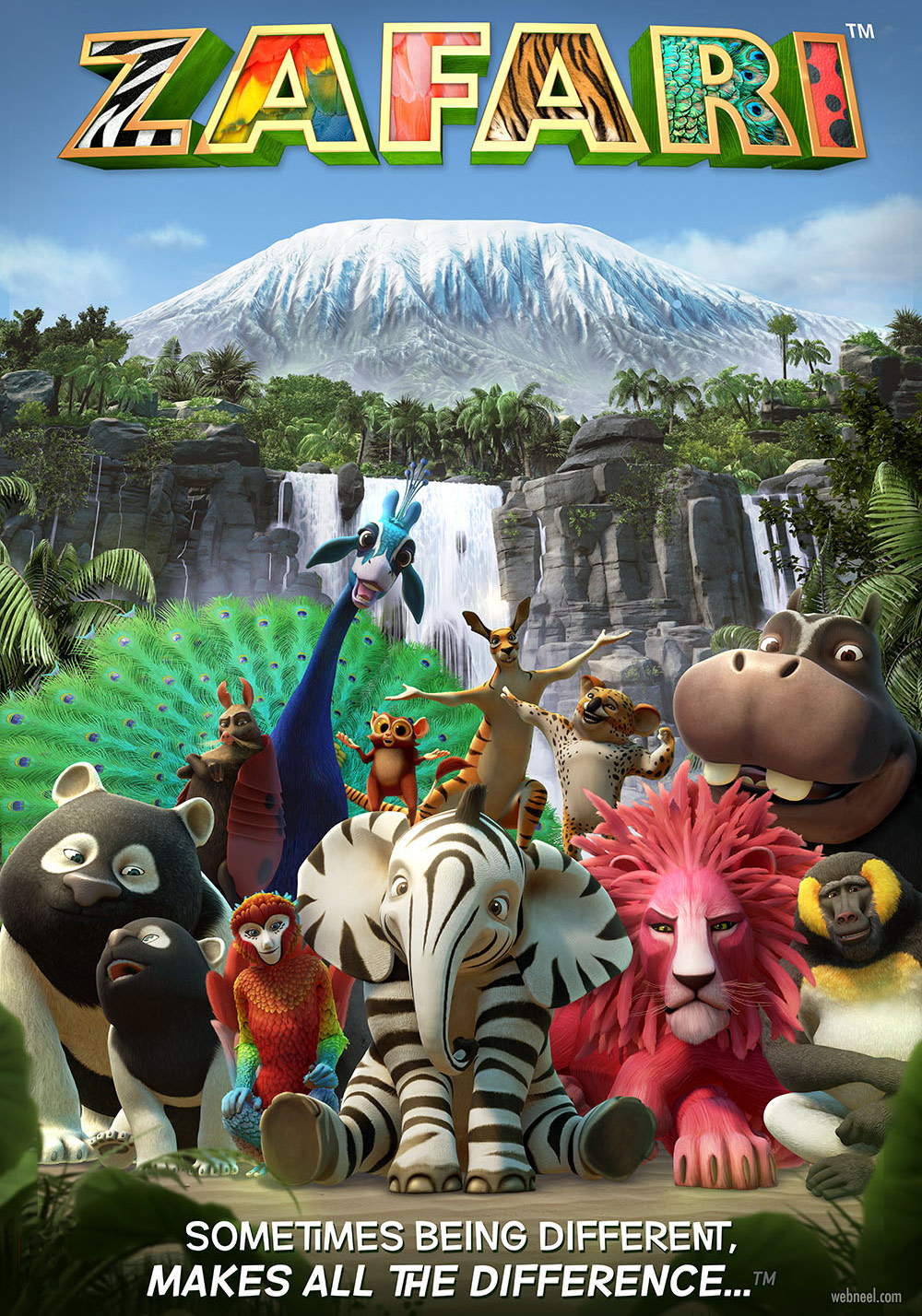 3d animation cartoon poster zafari