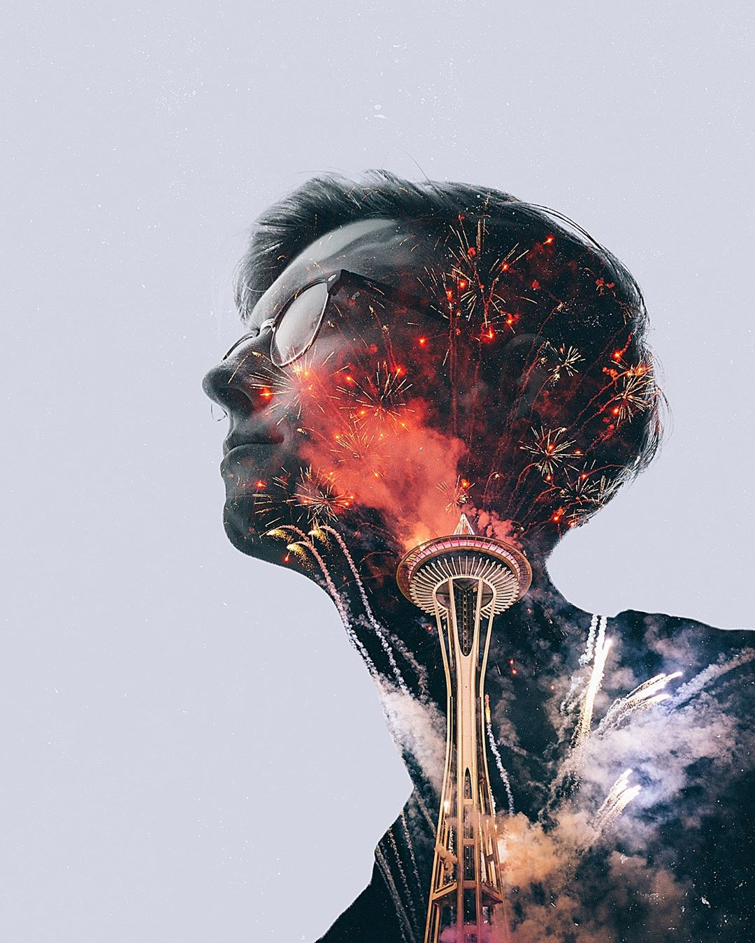 Mind Trance Double Exposure Photography by Fuzion APP for
