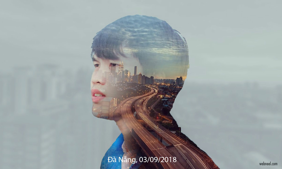 double exposure effect photo by xumai