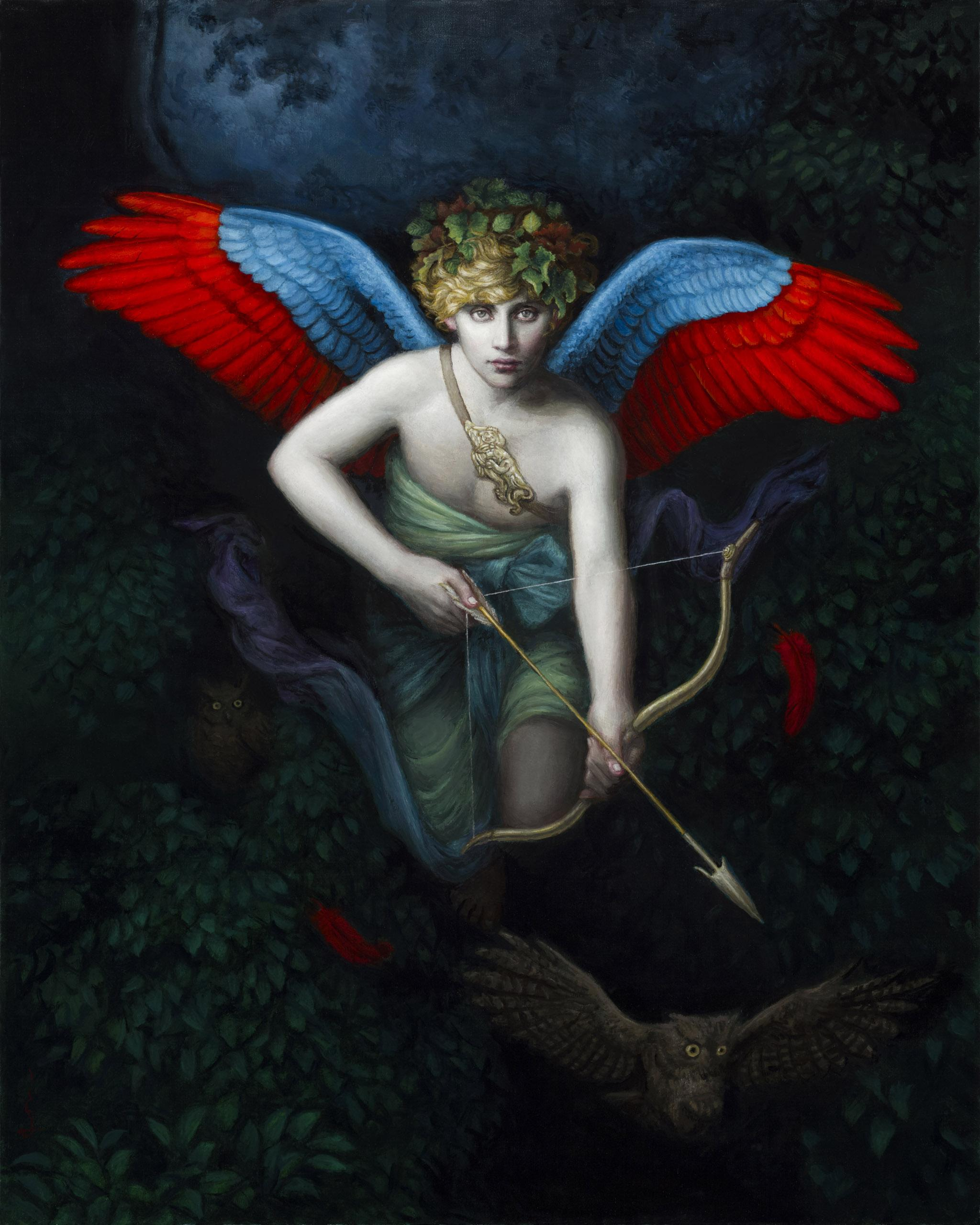 surreal art painting hunt by chie yoshii