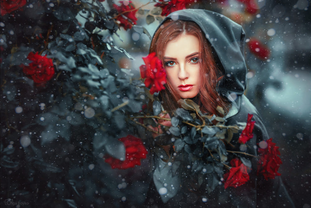 portrait photography snow queen by olga boyko