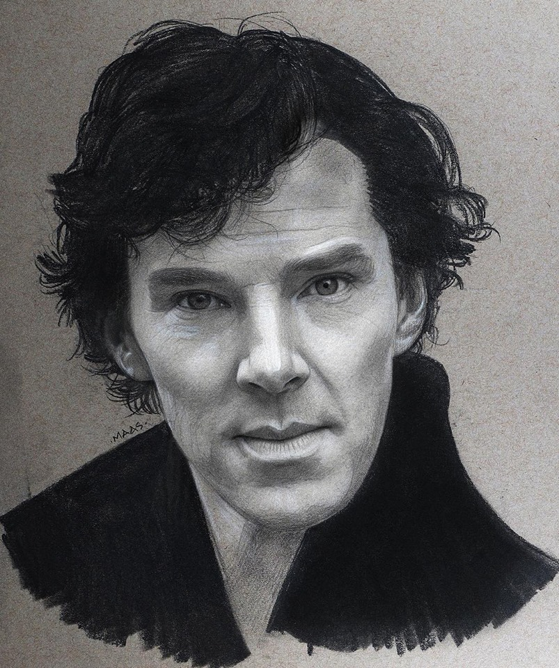 graphite drawing sketches benedictcumberbatch