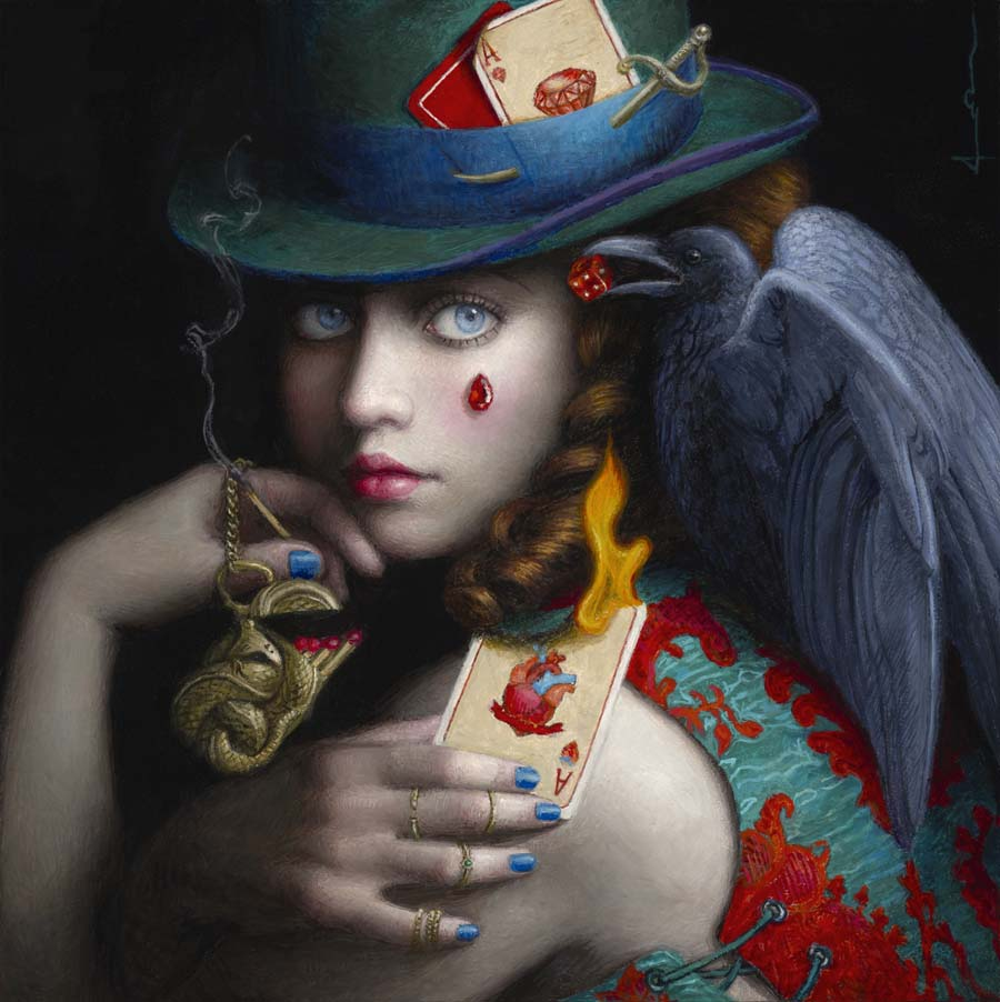 surreal art painting tarot by chie yoshii