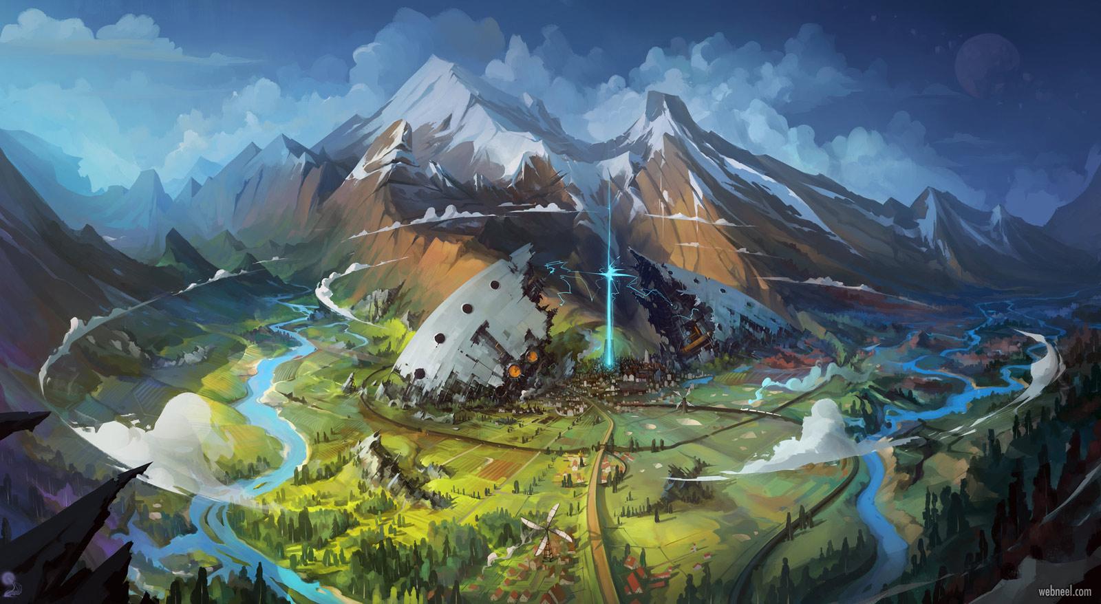 2d concept artwork attack igor artyomenko