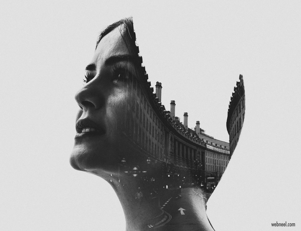 double exposure effect photo by erkindemir
