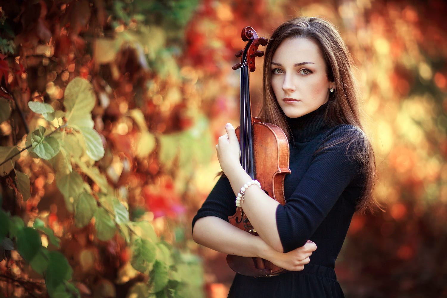 portrait photography violin