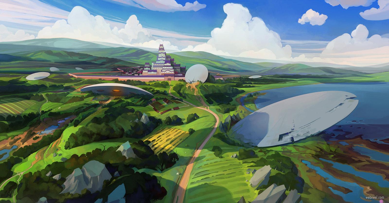 2d concept artwork landscape