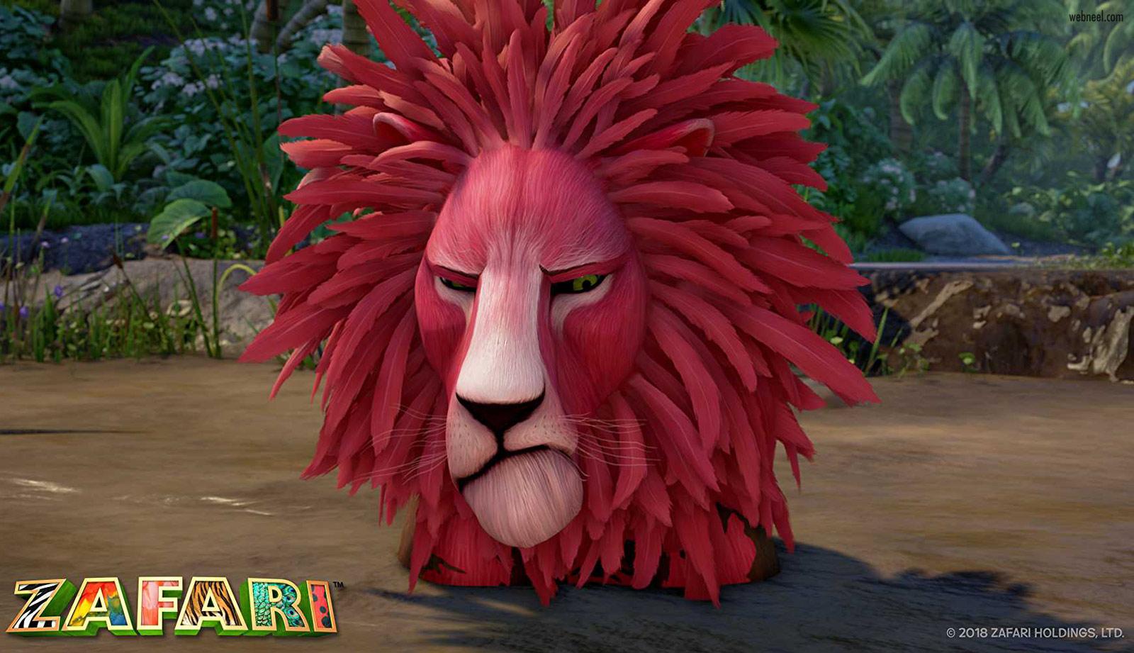 3d animation lion zafari by david dozoretz