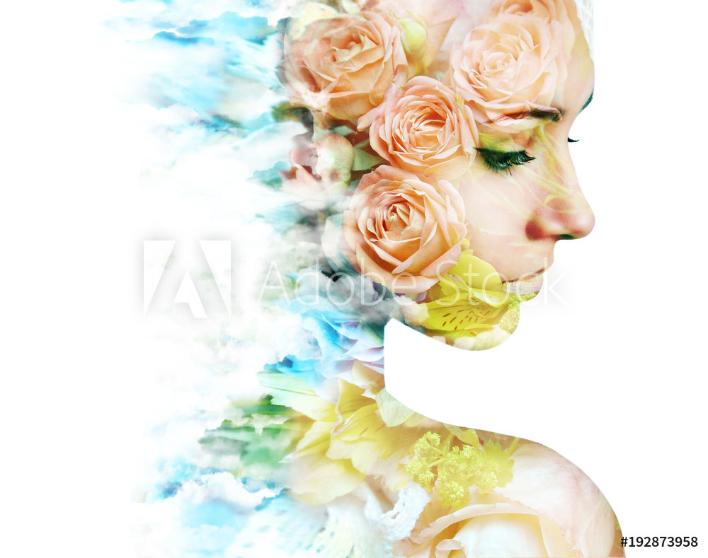 double exposure photography roses by vladimir sazonov