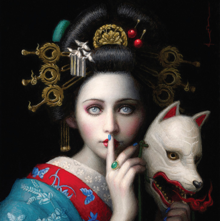 surreal art painting silence by chie yoshii