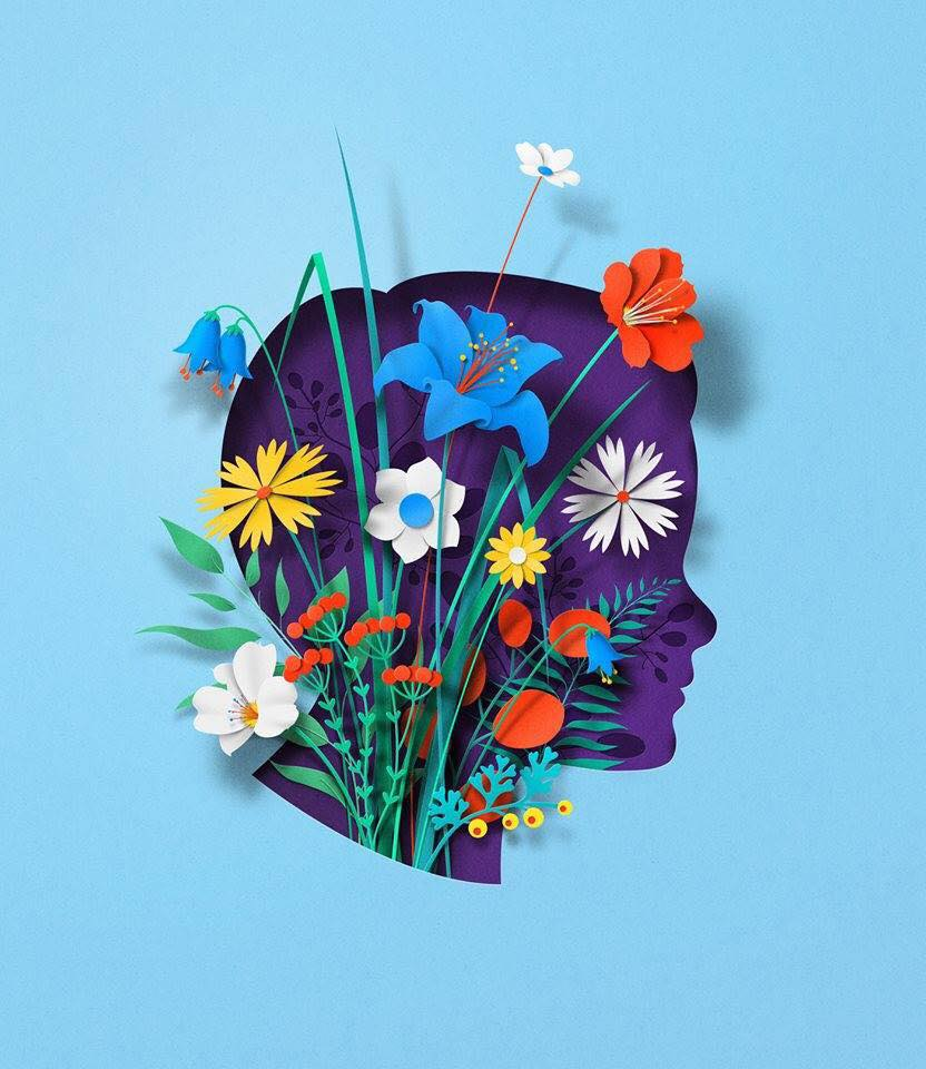 paper art sculpture bouquet by eiko ojala