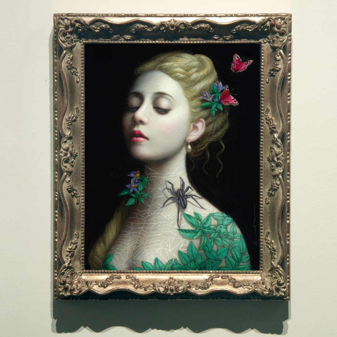 surreal art painting spider by chie yoshii