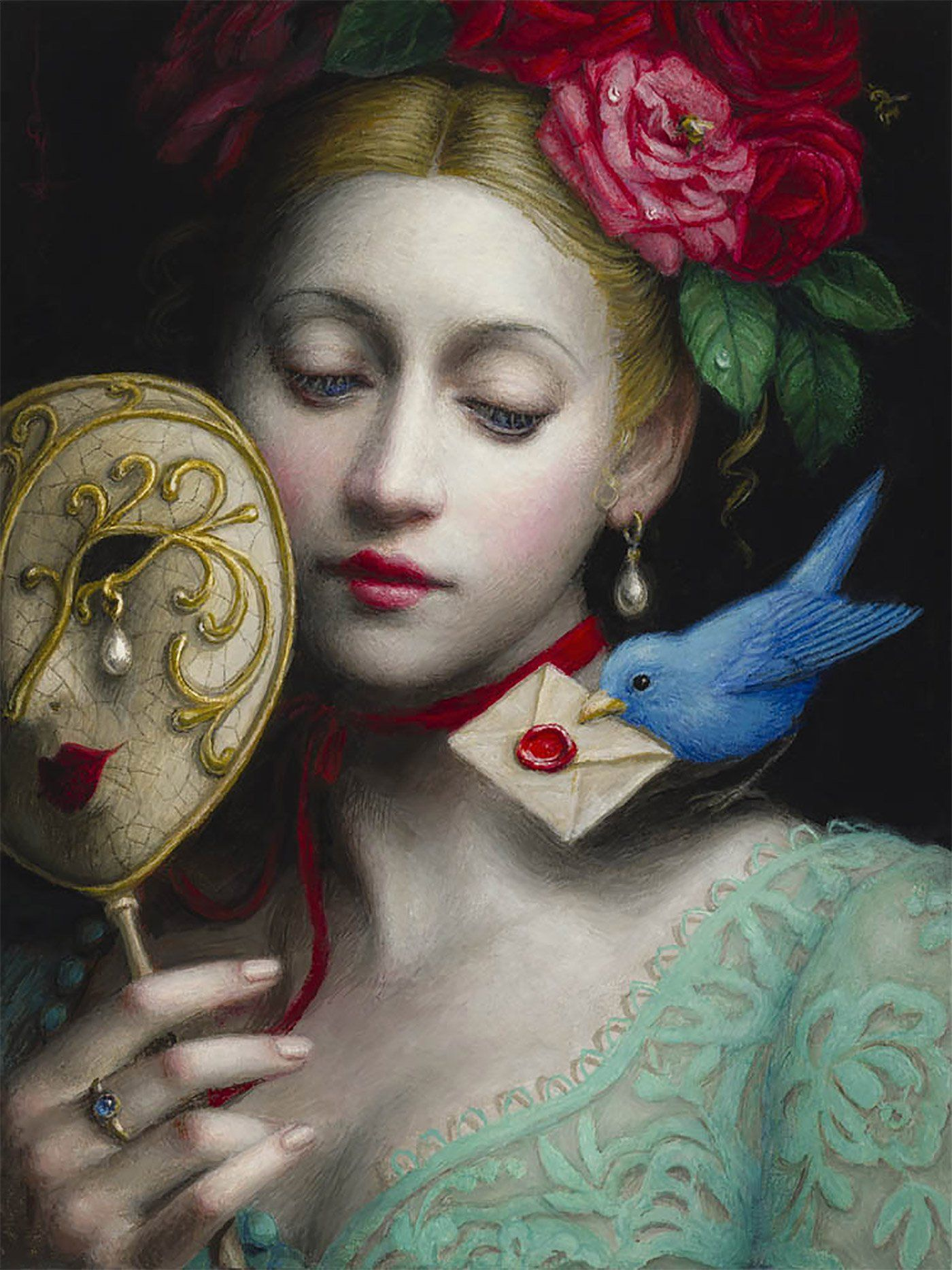 surreal art painting letter by chie yoshii