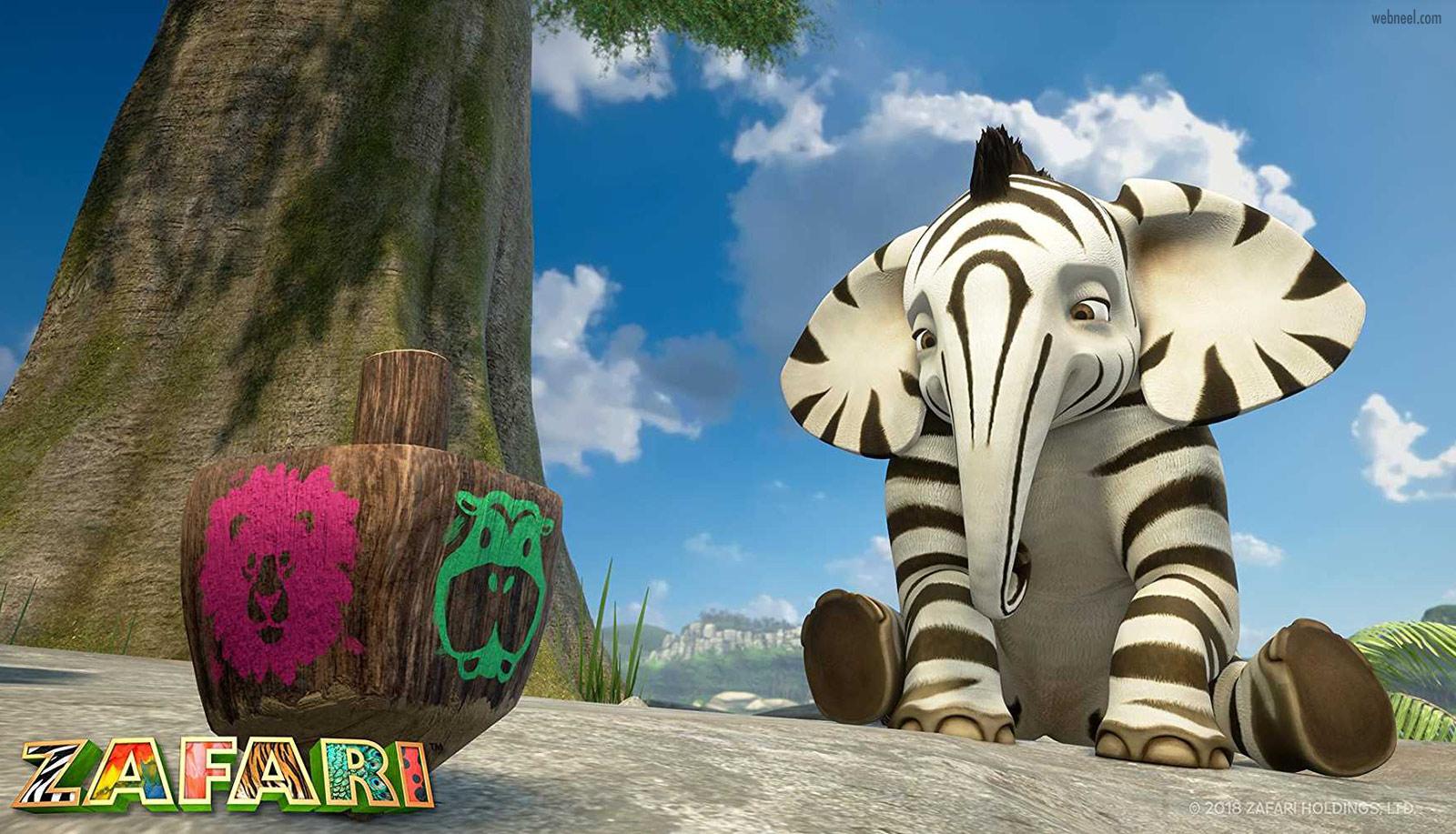 3d animation cartoon animals zafari by david dozoretz