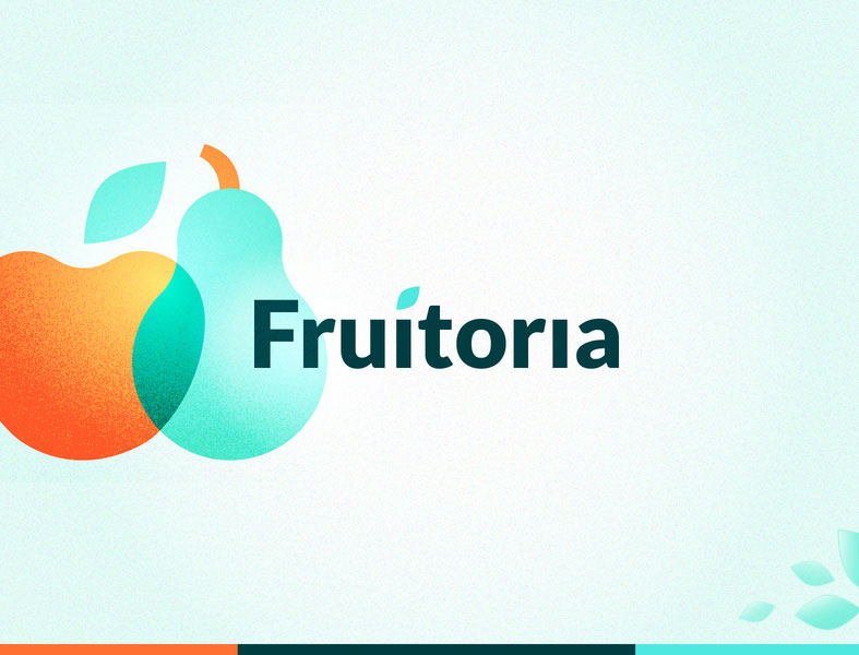 fruit logo design fruitoria