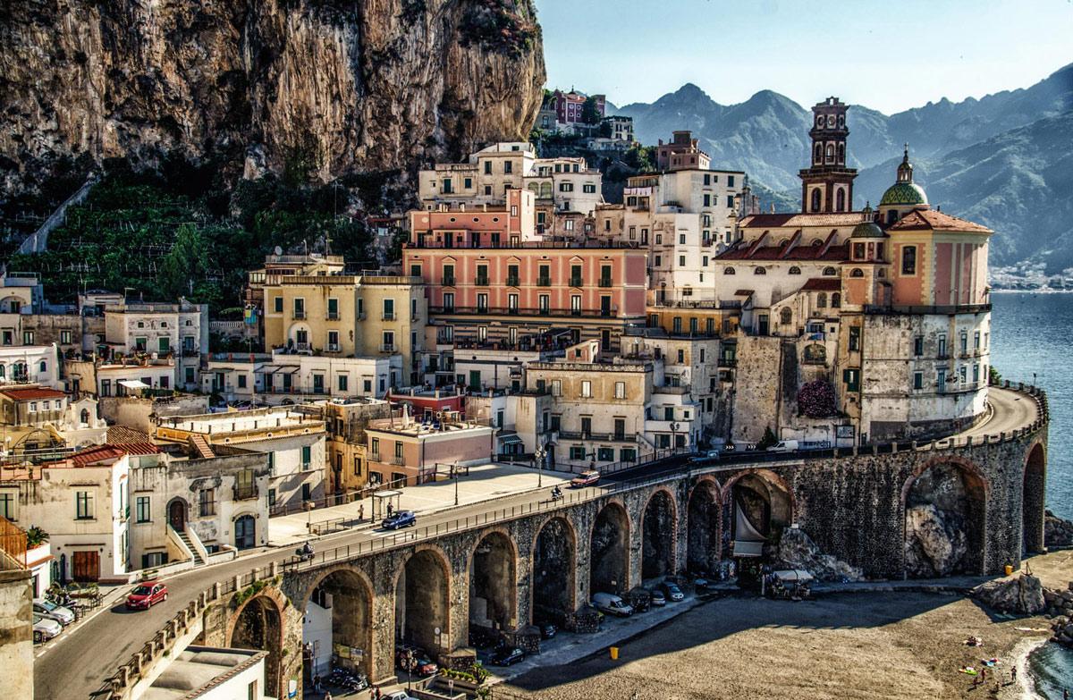 travel photography coastal city atrani italy